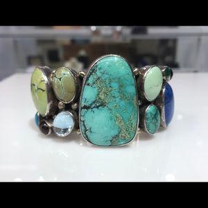 Sterling silver Nakai cuff bracelet